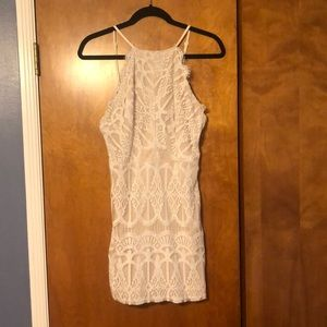 Tobi white lace mini dress size L